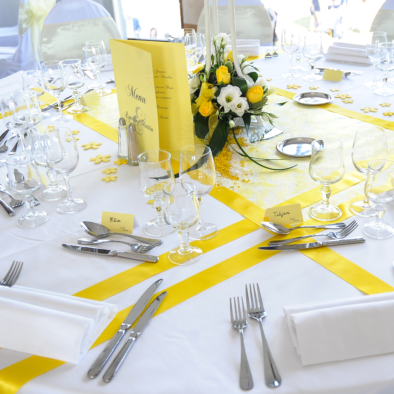 Faire part mariage de faire party for Decoration jaune
